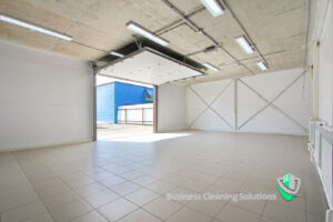 A well maintained tile and grout floor in a commercial setting.