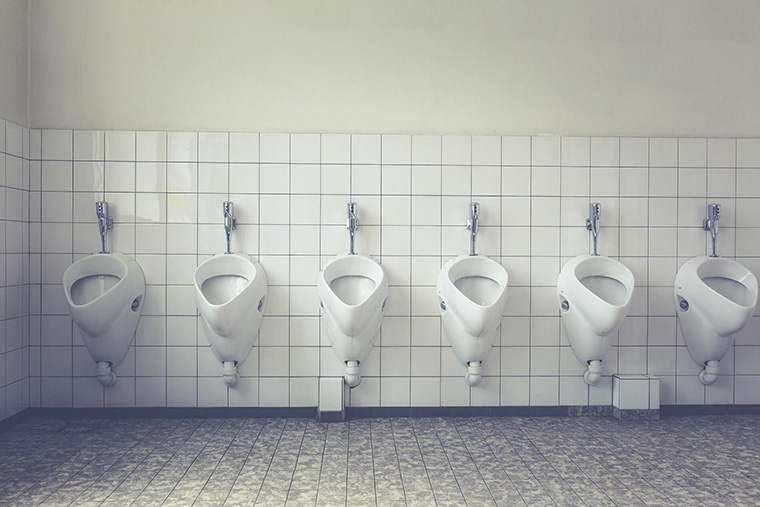 Clean urinals make for a functional, user-friendly commercial restroom.