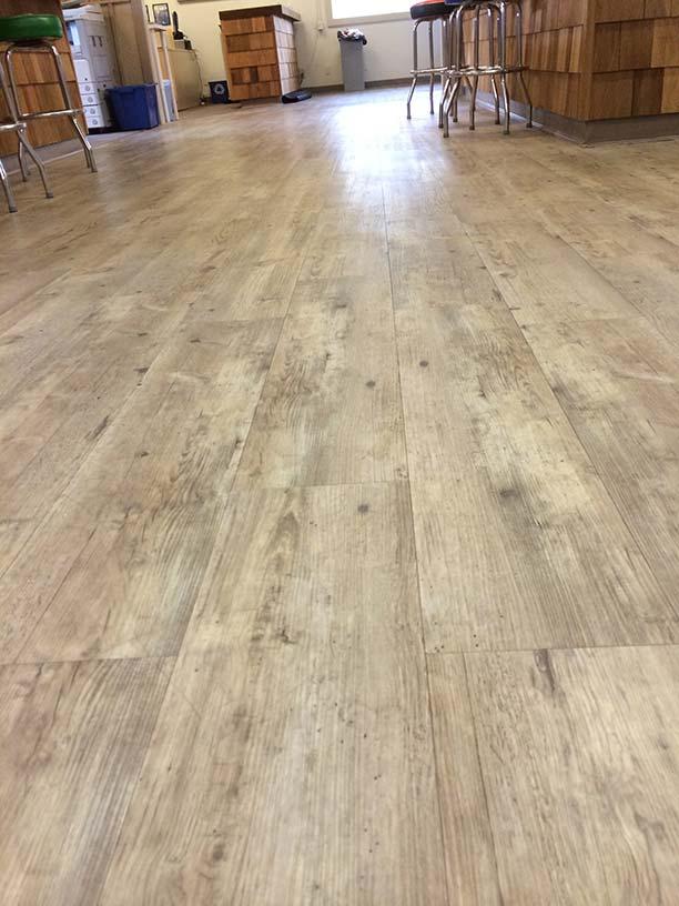 Vinyl plank commercial flooring