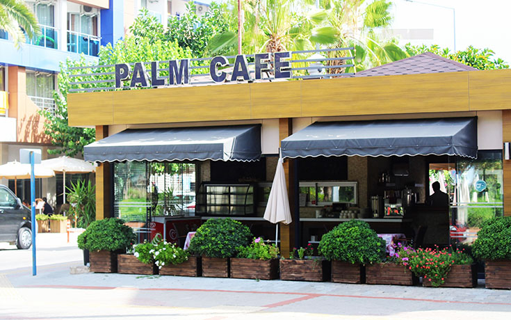 A clean cafe with great curb appeal from the outside.