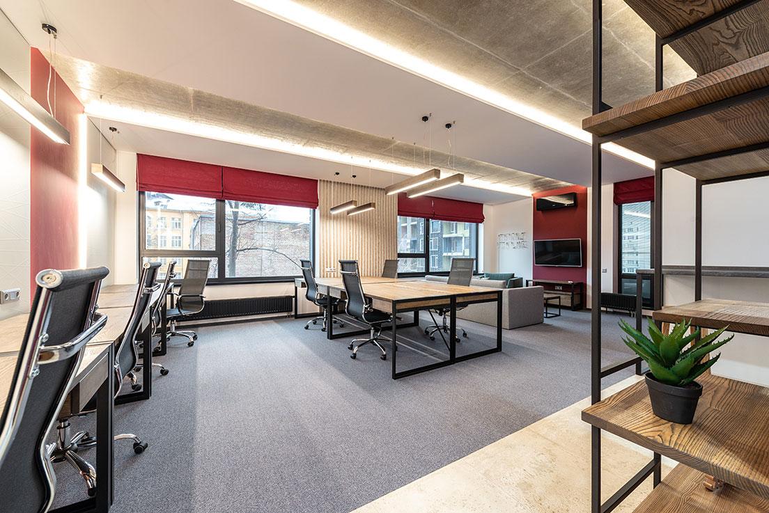 Clean commercial office carpet