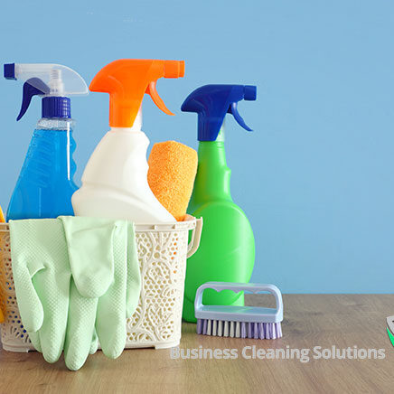 Business Cleaning Solutions cleaning tools and chemicals