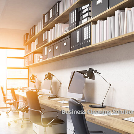 Sunlit office with natural lighting needs day cleaning